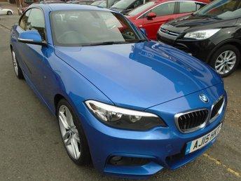 2015 BMW 2 SERIES 2.0 218D M SPORT 2d 141 BHP, ULEZ EXEMPT £10994.00