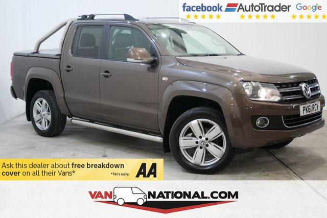 USED 2011 61 VOLKSWAGEN AMAROK 2.0 DC TDI HIGHLINE 4MOTION 4d 160 BHP * SAT NAV * LEATHER * AIR CON * BLUETOOTH * CRUISE *
