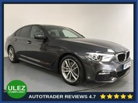 USED 2017 17 BMW 5 SERIES 2.0 520D M SPORT 4d AUTO 188 BHP HISTORY - 1 OWNER - SAT NAV - CAMERA - LEATHER - PARKING SENSORS - AIR CON - BLUETOOTH - DAB