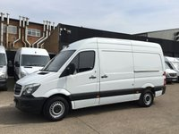 USED 2016 65 MERCEDES-BENZ SPRINTER 2.1 313CDI MWB HIGH ROOF 130BHP 1 OWNER. F/S/H. FINANCE. PX 1 OWNER FROM NEW. 6 SERVICES. LOW FINANCE. PX WELCOME