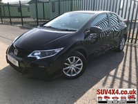 USED 2015 15 HONDA CIVIC 1.8 I-VTEC S 5d 140 BHP AIR CON ALLOYS FSH STUNNING BLACK MET WITH BLACK CLOTH TRIM. 16 INCH ALLOYS. COLOUR CODED TRIMS. BLUETOOTH PREP. CLIMATE CONTROL. MEDIA CONNECTIVITY. MFSW. MOT 02/20. SERVICE HISTORY. SUV4X4 USED CAR CENTRE LS23 7FR TEL 01937 849492 OPTION 1