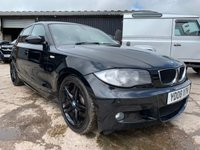 "USED 2008 08 BMW 1 SERIES 2.0 123D M SPORT 5d 202 BHP YD08XTK 2008 BMW 1 SERIES 2.0 TURBO DIESEL 123D M SPORT 5 DOOR HATCHBACK 202 BHP 79K MILES 12 MONTH MOT WARRANTY & FINANCE AVAILABLE 18"" ALLOYS HALF LEATHER SPORTS SEATS"