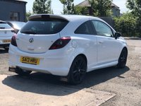 USED 2013 13 VAUXHALL CORSA 1.2 LIMITED EDITION 3d 83 BHP PRIVACY GLASS +   17 INCH BLACK ALLOYS +  FULL SERVICE RECORD +  FULL YEAR MOT +  2 KEYS +