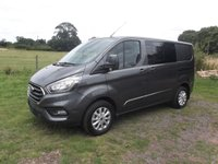 2019 FORD TRANSIT CUSTOM T320 L2 H1 130 DCIV Limited 6 speed Manual, Led Load lights, Power Converter in cab, Choice available  £21999.00