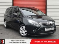 USED 2013 63 VAUXHALL ZAFIRA TOURER 1.8 EXCLUSIV 5d 138 BHP Black Roof Rails and Tinted Glass