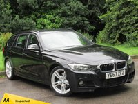 USED 2013 63 BMW 3 SERIES 2.0 320D M SPORT TOURING 5d 181 BHP FULL SCREEN SATELLITE NAVIGATION, HEATED LEATHER