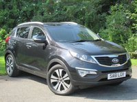 USED 2011 61 KIA SPORTAGE 2.0 CRDI KX-3 5d AUTO * 128 POINT AA INSPECTED * AUTOMATIC DIESEL * FULL LEATHER INTERIOR *