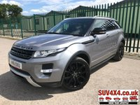 USED 2011 61 LAND ROVER RANGE ROVER EVOQUE 2.2 SD4 DYNAMIC 5d 190 BHP PANROOF SATNAV LEATHER PRIVACY 4WD. PANORAMIC ROOF. SATELLITE NAVIGATION. STUNNING GREY MET WITH FULL BLACK LEATHER TRIM. ELECTRIC HEATED MEMORY SEATS. CRUISE CONTROL. 20 INCH BLACK ALLOYS. COLOUR CODED TRIMS. PRIVACY GLASS. PARKING SENSORS. REVERSE CAMERA. BLUETOOTH PREP. CLIMATE CONTROL INCLUDING AIR CON. MULTIMEDIA SYSTEM. R/CD/DAB RADIO. 6 SPEED MANUAL. MFSW. MOT 06/20. SERVICE HISTORY. PRESTIGE SUV CENTRE LS23 7FR. TEL 01937 849492 OPTION 1
