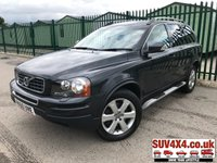 USED 2010 60 VOLVO XC90 2.4 D5 SE AWD 5d AUTO 185 BHP SAT NAV LEATHER S/STEPS PRIVACY  4WD. SATELLITE NAVIGATION. 7 SEATER. STUNNING GREY MET WITH FULL BLACK LEATHER TRIM. ELECTRIC MEMORY HEATED SEATS. CRUISE CONTROL. SIDE STEPS. 18 INCH ALLOYS. COLOUR CODED TRIMS. PRIVACY GLASS. PARKING SENSORS. BLUETOOTH PREP. CLIMATE CONTROL. R/CD PLAYER. MFSW. TOW BAR. ROOF BARS. MOT 07/20. ONE PREV OWNER. SERVICE HISTORY. SUV4X4 USED SUV CENTRE LS23 7FR. TEL 01937 849492. OPTION 2