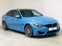 USED 2017 67 BMW M3 3.0 COMPETITION PACKAGE 4d AUTO 444 BHP MARINA BLUE WITH CREAM + HEADS-UP DISPLAY