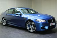 """USED 2014 11 BMW M5 4.4 M5 4d 553 BHP 20""""ALLOYS+FULL SERVICE HISTORY+LEATHER+NAV+BLUETOOTH+CRUISE CONTROL+HEAD UP DISPLAY+HEATED SEATS+PARKING SENSORS"""