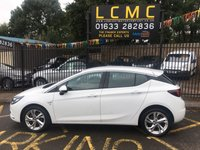 USED 2017 17 VAUXHALL ASTRA 1.4 SRI S/S 5d AUTO 148 BHP STUNNING SUMMIT WHITE PAINT WORK, CHARCOAL SRI SPORTS INTERIOR TRIM, ALLOY WHEELS, CRUISE CONTROL, BLUETOOTH, FRONT AND REAR PARKING SENSORS, AIR CON, MULTI MEDIA, 1 OWNER, LOW MILEAGE