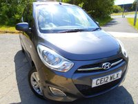 USED 2012 12 HYUNDAI I10 1.2 STYLE 5d 85 BHP ** SUNROOF, AIRCON, HEATED SEATS, ELECTRIC WINDOWS , ALLOYS, YES ONLY 37K, £20 ROAD TAX, SUPERB VEHICLE THROUGHOUT **
