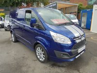2017 FORD TRANSIT CUSTOM 2.0 290 LIMITED SPORT 170 BHP IMPACT METALLIC BLUE 37,000 MILES  CRUISE CONTROL AIR CON REAR CAMERA 18in ALLOYS  FORD REMAIN WARRANTY MARCH 2020   ONE OWNER  £14995.00