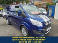 USED 2017 17 FORD TRANSIT CUSTOM 2.0 290 LIMITED SPORT 170 BHP IMPACT METALLIC BLUE 37,000 MILES  CRUISE CONTROL AIR CON REAR CAMERA 18in ALLOYS  FORD REMAIN WARRANTY MARCH 2020   ONE OWNER  FORD TRANSIT CUSTOM SPORT 170
