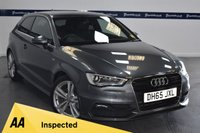 USED 2016 65 AUDI A3 1.4 TFSI S LINE 3d 150 BHP (ONE OWNER)