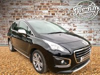 USED 2016 16 PEUGEOT 3008 1.6 BLUE HDI S/S ALLURE 5d AUTO 120 BHP ** 1 OWNER, FULL PEUGEOT HISTORY AND LOW MILEAGE **