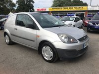 2007 FORD FIESTA 1.4 TDCI VAN 2d 68 BHP IN SILVER WITH ONLY 63500 MILES, SERVICE HISTORY. THIS IS BEING SOLD AS A TRADE CLEARANCE  £1750.00