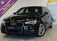 USED 2016 16 AUDI A3 2.0 TDI S LINE NAV 5d 148 BHP FULL MAIN DEALER SERVICE HISTORY, HEATED FINE NAPPA LEATHER, SAT NAV, CRUISE, ACOUSTIC PARKING REAR, CRUISE CONTROL