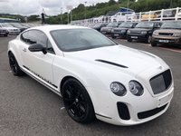 USED 2010 59 BENTLEY CONTINENTAL 6.0 SUPERSPORTS 2d 621 BHP Only 9,500 miles local car with FSH cost £173,000