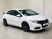 USED 2013 13 HONDA CIVIC 1.8 I-VTEC TI 5d 140 BHP LOW MILES + WHITE + SERVICE HISTORY + PART EX WELCOME