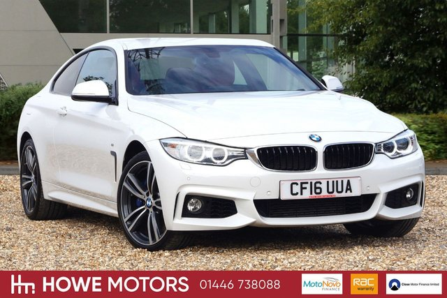 2016 16 BMW 4 SERIES 3.0 435D XDRIVE M SPORT 2d AUTO 309 BHP PRO NAVIGATION FULL HEATED CORAL RED DAKOA LEATHER HARMAN KARDON SURROUND SOUND PDC DAB RADIO