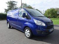 USED 2017 17 FORD TRANSIT CUSTOM 290 LIMITED L2 Lwb 2.0 Tdci 130Ps Direct From Leasing Company Only 14000 Miles & Warranty Till June 2020 Top Of Range Limited Model In Stunning Deep Impact Blue!