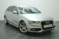 USED 2015 15 AUDI A4 2.0 AVANT TDI S LINE START/STOP 5d AUTO 148 BHP 1 OWNER + FULL AUDI HISTORY + FULL HEATED LEATHER + SAT NAV