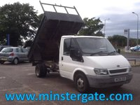 2006 FORD TRANSIT TRANSIT STEEL BUCK TWIN REAR WHEEL TIPPER 2.4 350M * 51000 MILES * £3500.00