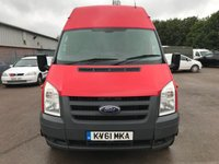 USED 2011 61 FORD TRANSIT T350 140PS LWB JUMBO 6 SEAT CREWVAN **IDEAL CONVERSION**NO VAT**