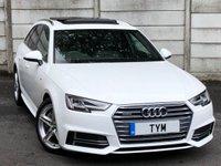 2016 AUDI A4 AVANT 3.0 AVANT TDI QUATTRO S LINE 5d AUTO 268 BHP £18495.00