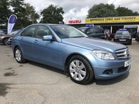 2010 MERCEDES-BENZ C CLASS 1.8 C180 CGI BLUEEFFICIENCY EXECUTIVE SE 4 DOORS AUTO 156 BHP IN LIGHT BLUE WITH A GREAT SPEC AND 1 PREVIOUS OWNER  £6999.00