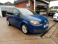 USED 2012 61 VOLKSWAGEN TOURAN 2.0 SE TDI BLUEMOTION TECHNOLOGY 5d 138 BHP PARKING SENSORS FRONT AND REAR,AIR CON,7 SEATER,CRUISE