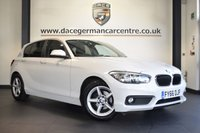 """USED 2016 66 BMW 1 SERIES 1.5 116D ED PLUS 5DR 114 BHP full service history * NO ADMIN FEES * FINISHED IN STUNNING ALPINE WHITE WITH ANTHRACITE UPHOLSTERY + FULL SERVICE HISTORY + SATELLITE NAVIGATION + BLUETOOTH + DAB RADIO + CRUISE CONTROL + RAIN SENSORS + PARKING SENSORS + 16"""" ALLOY WHEELS"""
