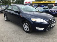 2011 FORD MONDEO 2.0 ZETEC 5d 144 BHP IN DARK METALLIC BLUE WITH 58000 MILES AND FULL SERVICE HISTORY  £4499.00