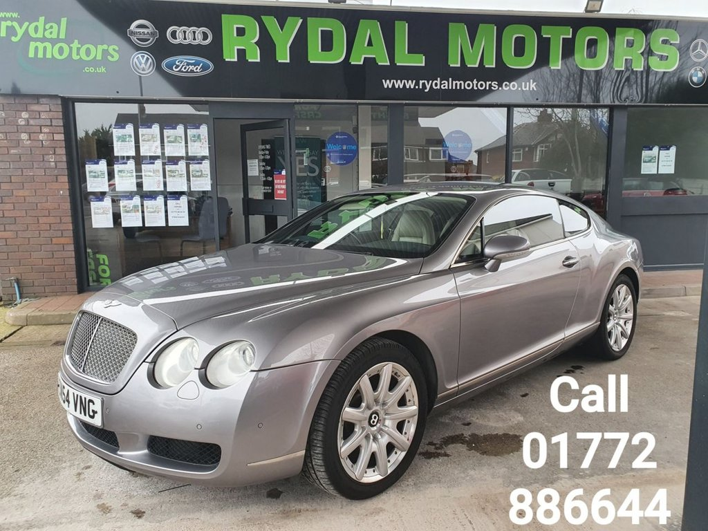 USED 2004 54 BENTLEY CONTINENTAL 6.0 GT 2d 550 BHP CAR IS IN OUTSTANDING CONDITION, ONLY 2 OWNERS FROM NEW WHICH IS VERY RARE WITH THESE VEHICLES, GREAT SERVICE HISTORY, GARAGED FROM NEW, TRICKLE CHARGE SYSTEM FITTED