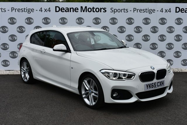 2015 65 BMW 1 SERIES 2.0 118D M SPORT 3d 147 BHP RED LEATHER