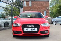 USED 2013 13 AUDI A4 2.0 TDI S LINE 4d 174 BHP Misanoi Red Audi A4  S Line Tdi 177 BHP, Sat Nav, Audi Side Assist, Heated Seats, Bluetooth Phone Prep, Front and Rear ParkingSensors, Full Service History,Cruise Controls, Xenon Lights, 2 Keys and Book Pack