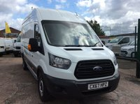 USED 2017 67 FORD TRANSIT JUMBO 2.0 350 L4 H3  DRW 129 BHP 1 OWNER FSH  MANUFACTURER'S WARRANTY EURO 6 ELECTRIC WINDOWS 6 SPEED BLUETOOTH