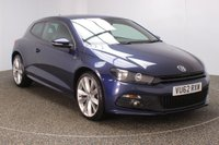 USED 2012 62 VOLKSWAGEN SCIROCCO 2.0 R LINE TDI DSG BLUEMOTION TECHNOLOGY 2DR SAT NAV HEATED LEATHER 140 BHP  SERVICE HISTORY + HEATED LEATHER SEATS + SATELLITE NAVIGATION + PARKING SENSOR + BLUETOOTH + CRUISE CONTROL + CLIMATE CONTROL + MULTI FUNCTION WHEEL + RADIO/CD/AUX + PRIVACY GLASS + ELECTRIC WINDOWS + ELECTRIC MIRRORS + 19 INCH ALLOY WHEELS