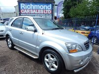 USED 2006 56 KIA SORENTO 2.5 XT 5d 168 BHP BLACK LEATHER INTERIOR, ALLOY WHEELS, AIR CONDITIONING, GREAT VALUE 4X4