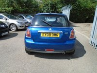 USED 2008 08 MINI HATCH ONE 1.4 ONE 3d 94 BHP