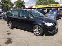 2008 VOLKSWAGEN TOURAN 1.9 SE TDI 5DOOR 103 BHP IN BLACK 1 OWNER FROM NEW 7 SEATS FULL SERVICE HISTORY GREAT CAR TRADE CLEARENCE £2499.00