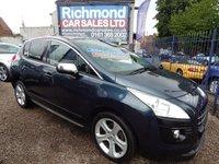 2012 PEUGEOT 3008 1.6 ALLURE E-HDI FAP 5d AUTO 112 BHP £5495.00