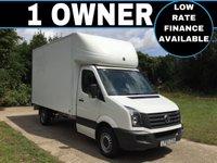 USED 2015 65 VOLKSWAGEN CRAFTER 2.0 CR35 TDI C/C 1d 109 BHP LUTON WITH TAIL LIFT LUTON VAN TAIL LIFT