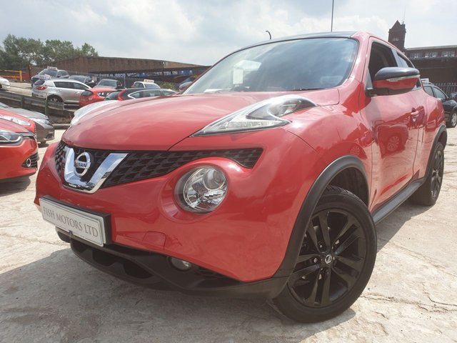 USED 2014 14 NISSAN JUKE 1.6 ACENTA XTRONIC 5d AUTO 117 BHP PRIVGLASS+MEDIA+ELECS+AUX+CD+CLIMATE+17 ALLOYS+CAT D 03/15+USB+