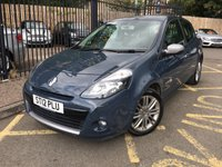 USED 2012 12 RENAULT CLIO 1.1 DYNAMIQUE TOMTOM TCE 3d 100 BHP STUNNING MERCURY GREY PAINT WORK, LOVELY CHARCOAL CLOTH INTERIOR TRIM,CRUISE CONTROL, ALLOY WHEELS, TOM TOM SAT NAV, ALLOY WHEELS, IMMOBILISER, CD PLAYER, SERVICE HISTORY, LOCAL OWNER, CHEAP CAR