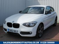 USED 2013 63 BMW 1 SERIES 2.0 116D SPORT 3d 114 BHP £30 PER YEAR ROAD TAX
