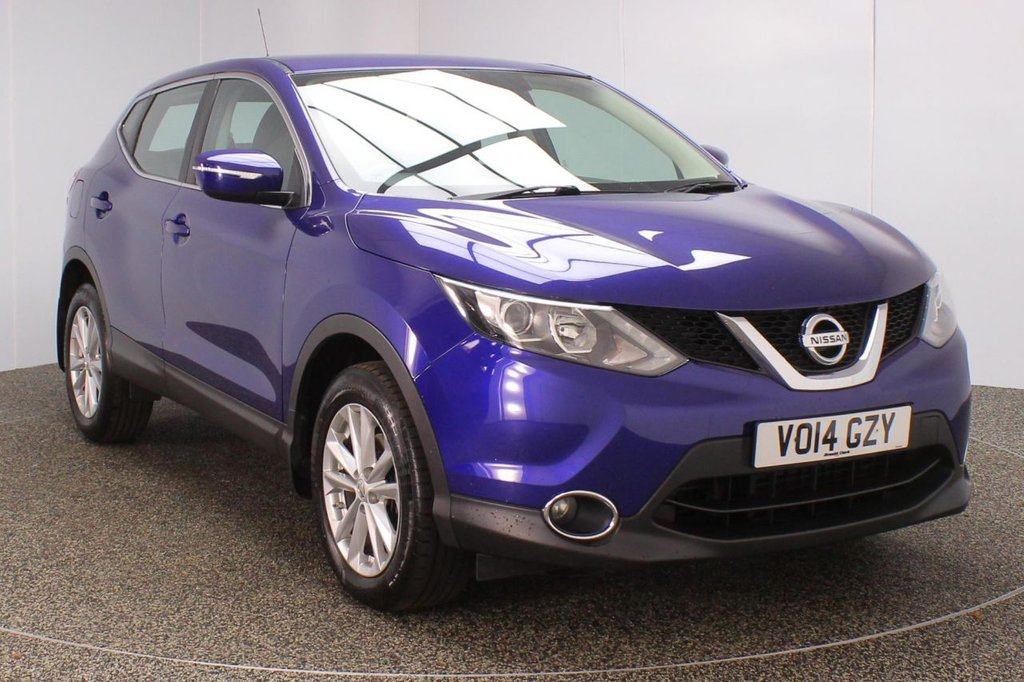 USED 2014 14 NISSAN QASHQAI 1.5 DCI ACENTA 5DR 108 BHP SERVICE HISTORY + PARKING SENSOR + BLUETOOTH + CRUISE CONTROL + CLIMATE CONTROL + MULTI FUNCTION WHEEL + RADIO/CD/AUX/USB + XENON HEADLIGHTS + ELECTRIC WINDOWS + ELECTRIC MIRRORS + 17 INCH ALLOY WHEELS