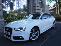 USED 2014 14 AUDI A5 2.0 SPORTBACK TDI S LINE S/S 5d AUTO 148 BHP ****FINANCE ARRANGED****PART EXCHANGE WELCOME***FULL LEATHER*CRUISE*DAB*AUTO LIGHTS*SERVICE HISTORY